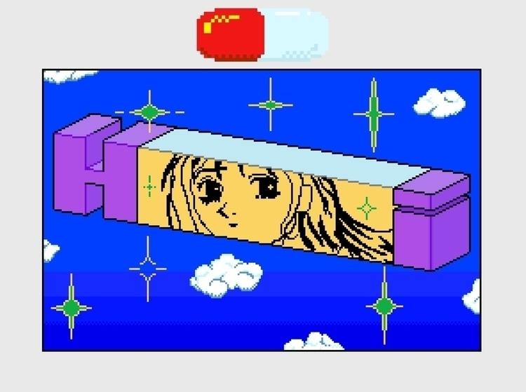 sky <3 Pixel art MS paint - pixelart - painpills | ello