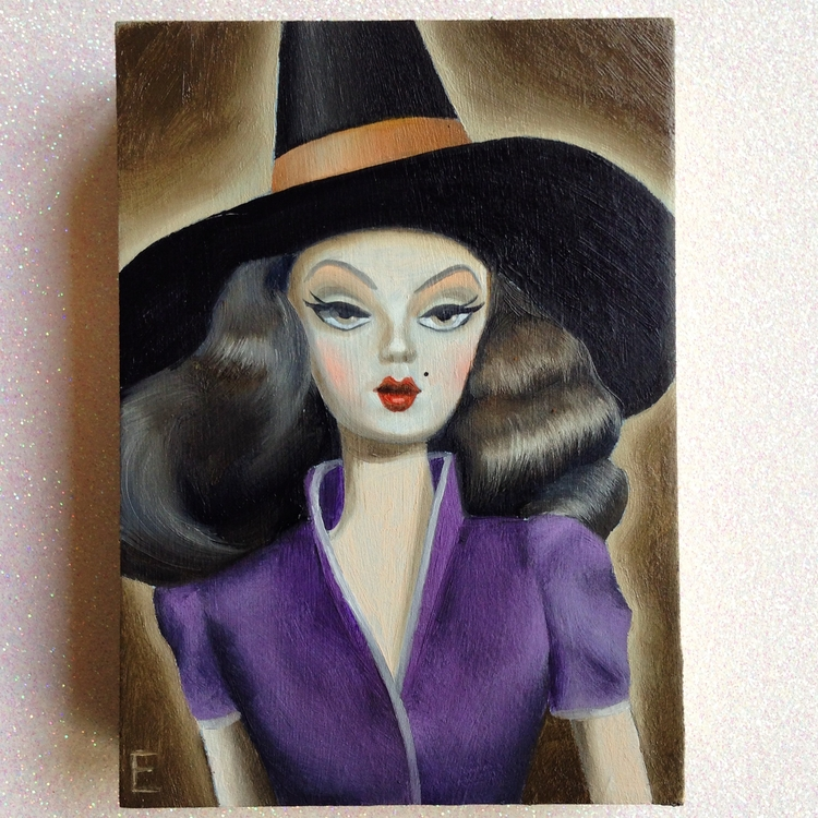 Hex Girl oil painting vintage B - emmamount | ello