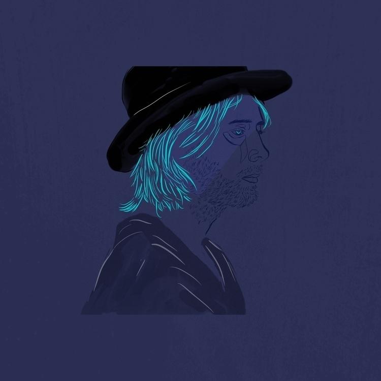 Thom York - nafri#illustration#radiohead#digital - meriamk | ello