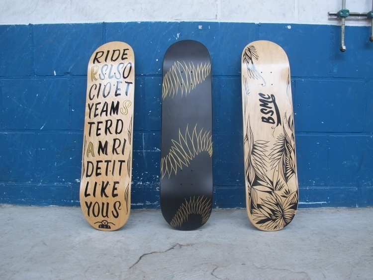 Custom painted Skatedecks - 4wheels - lisaottevangergraphicartist | ello