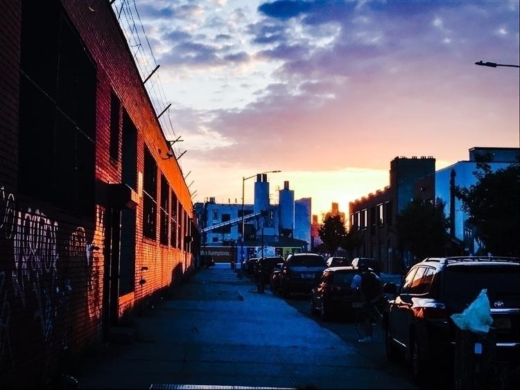 Bushwick - photography, iphone, sunset - cakebruh | ello