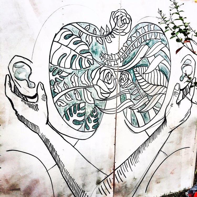LOVERS 8 ft ft, acrylic wood pa - blflood | ello