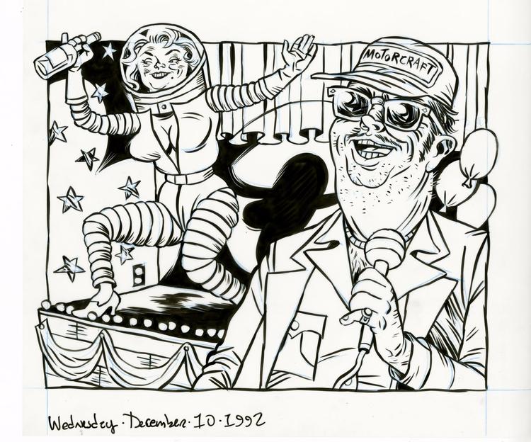 Space Gal illo Met, 12/10/92 - illustration - dannyhellman   ello