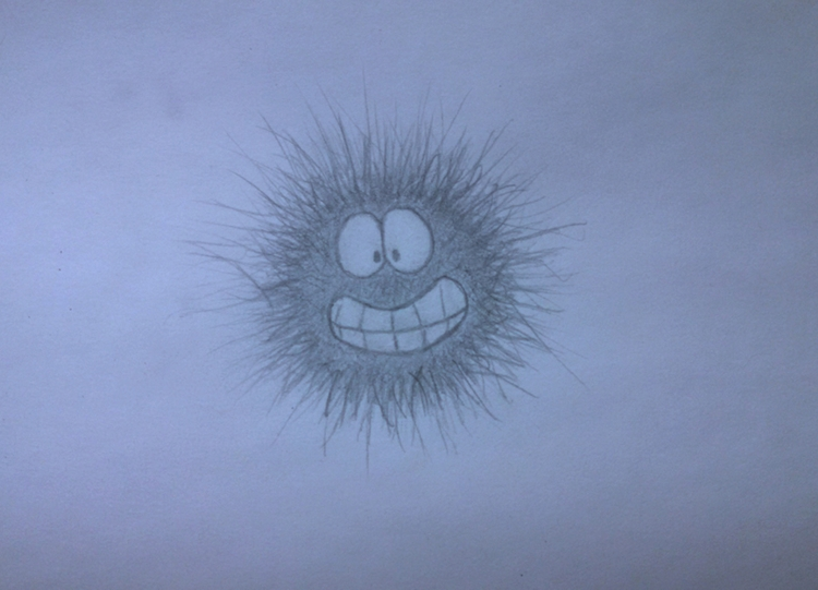 Sea Urchin - drawing, sketch, pencil - kut-n-paste | ello