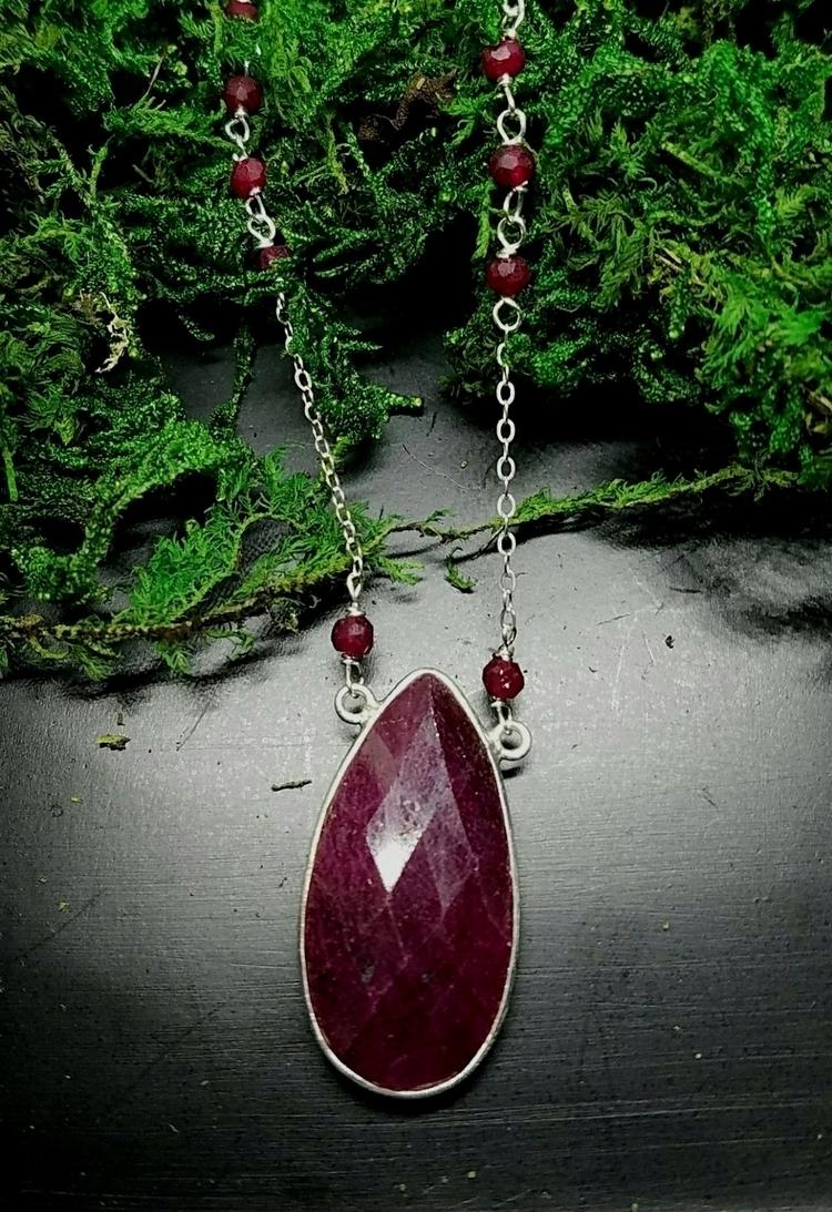 ruby, rubynecklace, lolafaejewelry - lolafaejewelry | ello