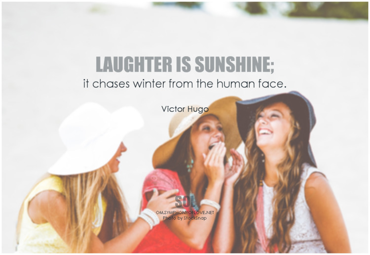 Laughter sunshine; chases winte - symphonyoflove | ello