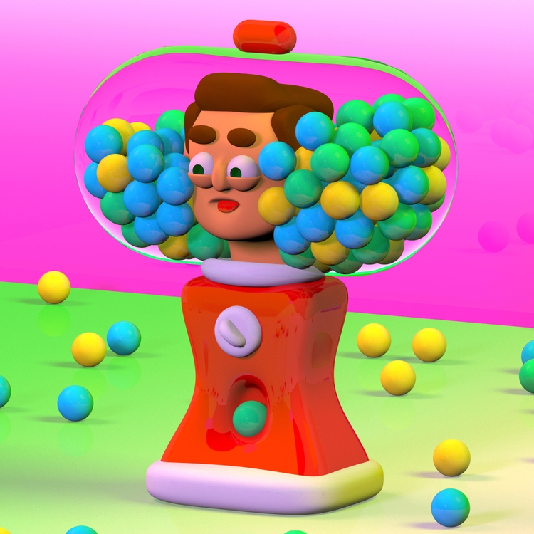 Trapped Bubblegum Machine - 3D, Cinema4D - _bens | ello