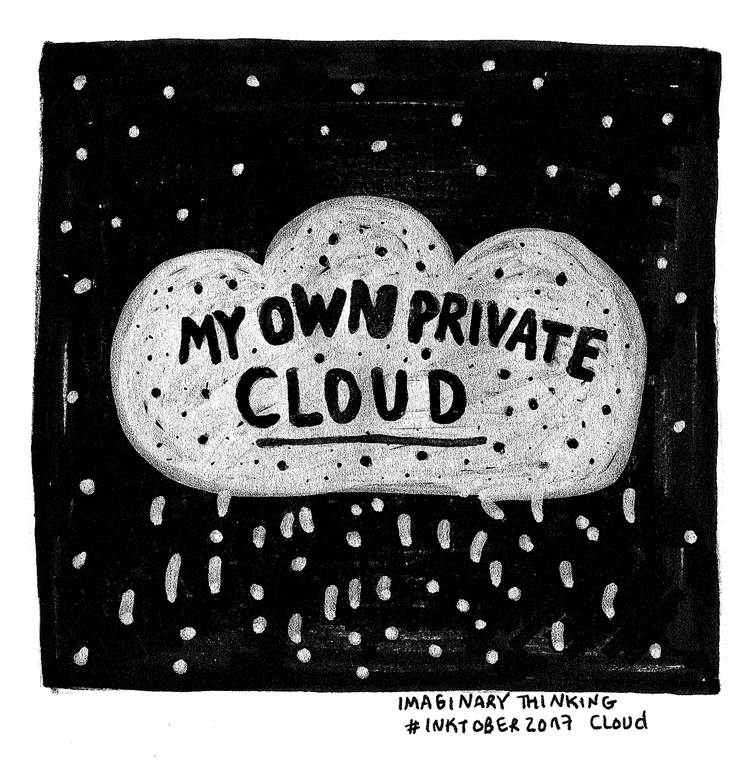 private Daily drawing - cloud, 539 - imaginarythinking | ello