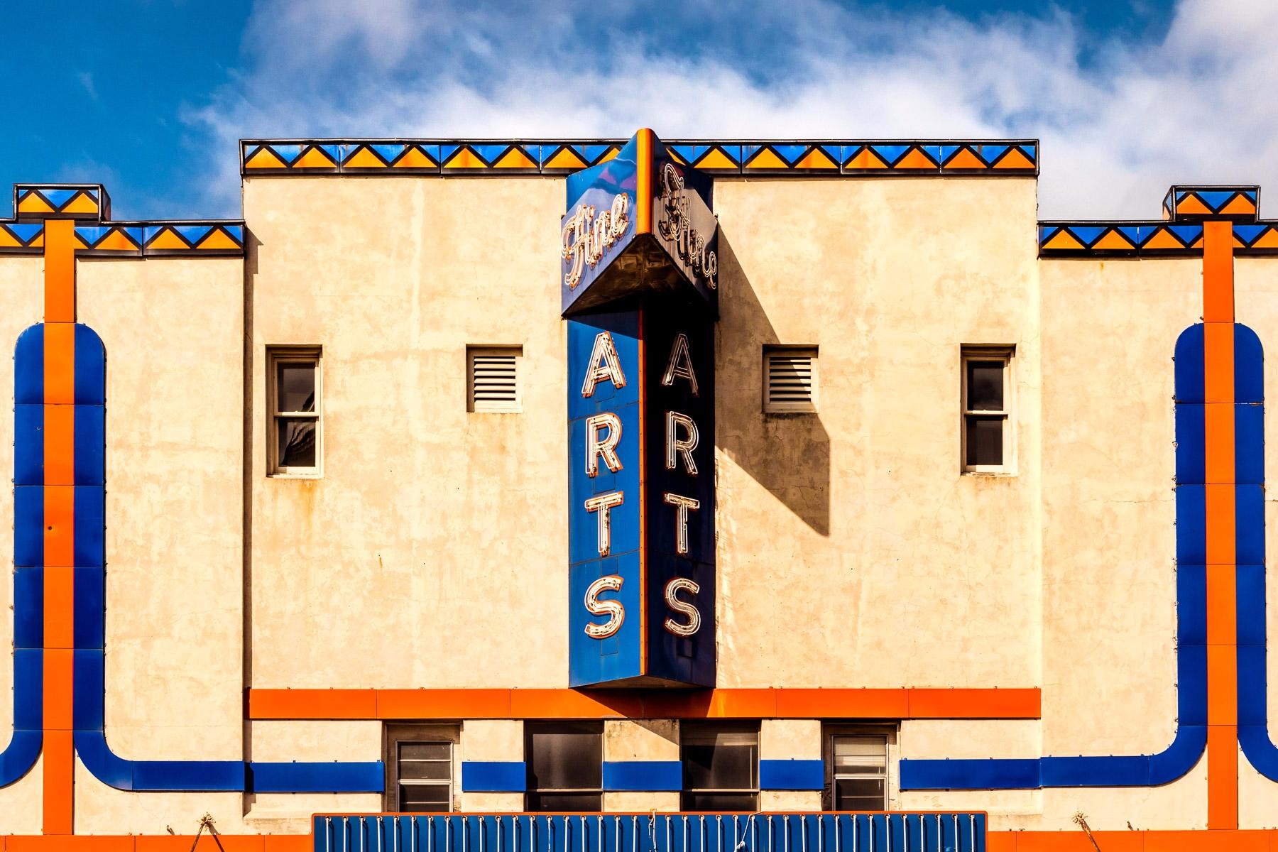 Fine Arts sign facade Theatre D - mattgharvey | ello