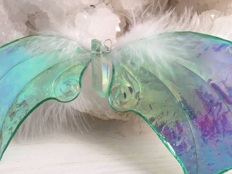 Crystal angel wing ornaments Fa - faerieblessings | ello