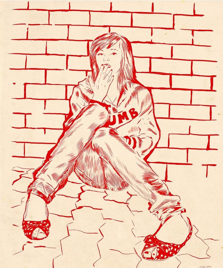 Dumb - illustration, drawing, artwork - zoe_vadim | ello