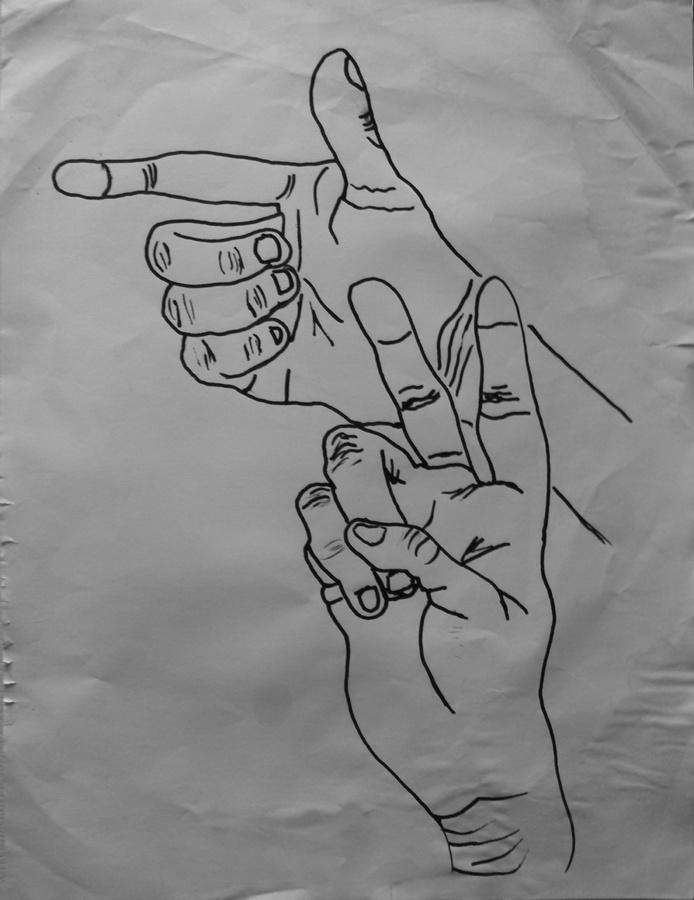 Scuffed Art - War Peace - drawing - kut-n-paste | ello