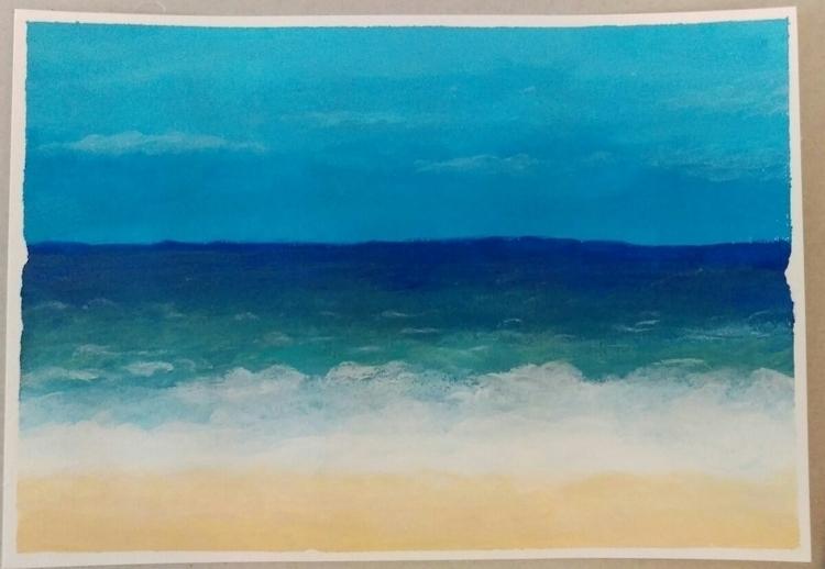 acrylic, beach - thecornflake | ello