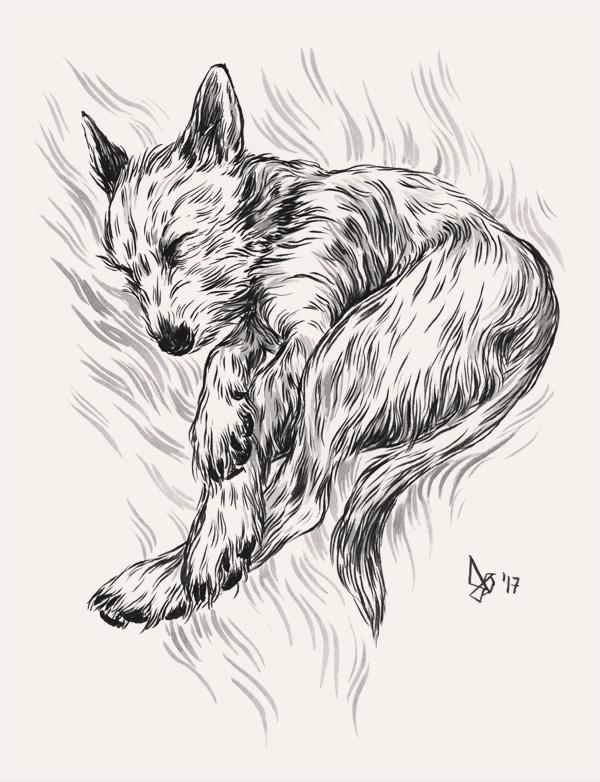 day 17 love, furry beast. inked - dariagolab | ello