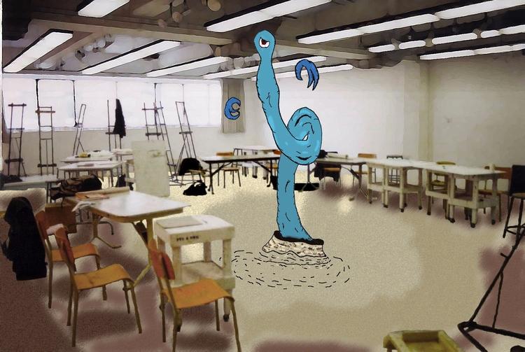 Boss Enters Arena, Classroom - room - mangekkojones | ello