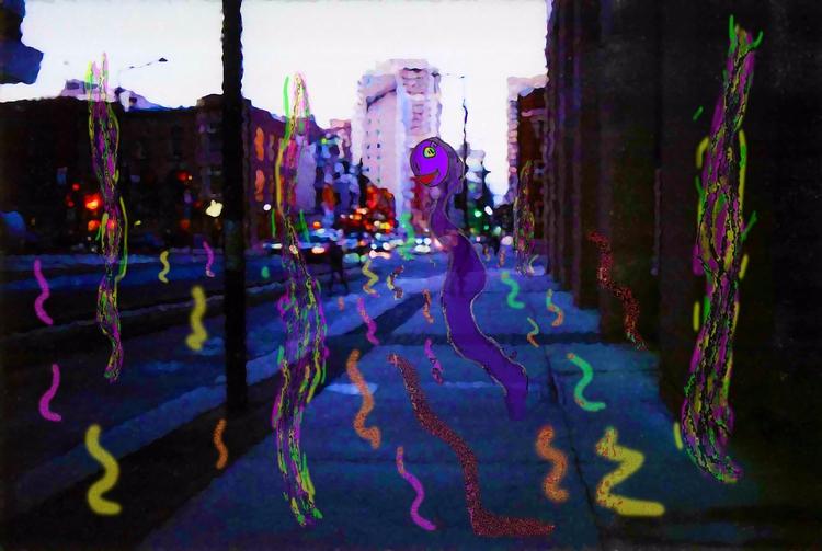 Gas Ghost Rises - Montreal, city - mangekkojones | ello