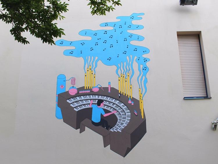 chemistry organ mural Antipode  - molonom | ello