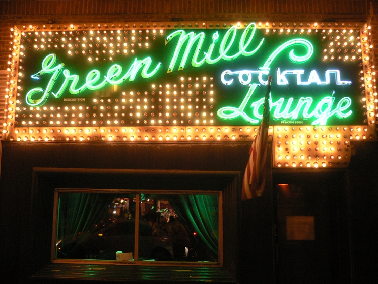 Green Mill Lounge, Chicago - neonsign - marksusina | ello