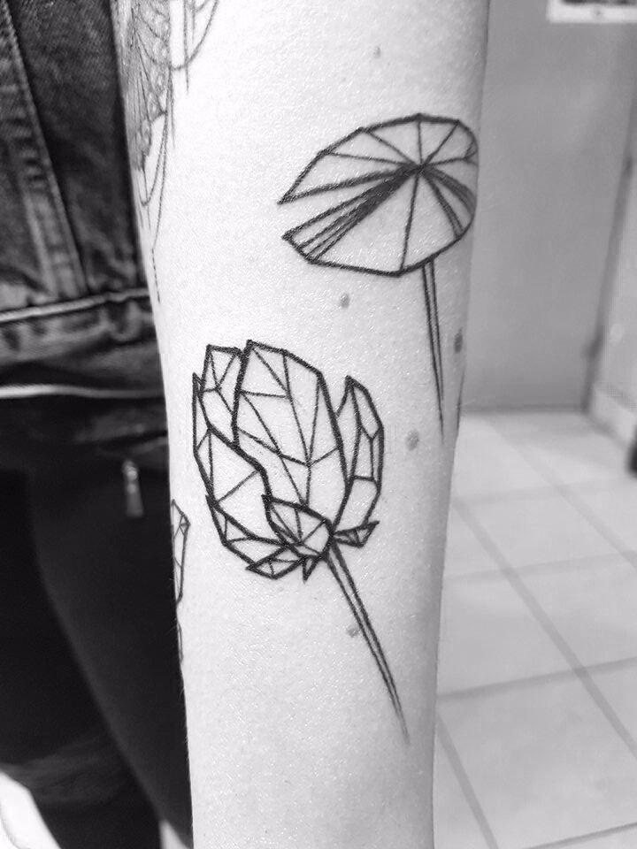 geometrictattoo, tattoo, lotustattoo - ernaart | ello