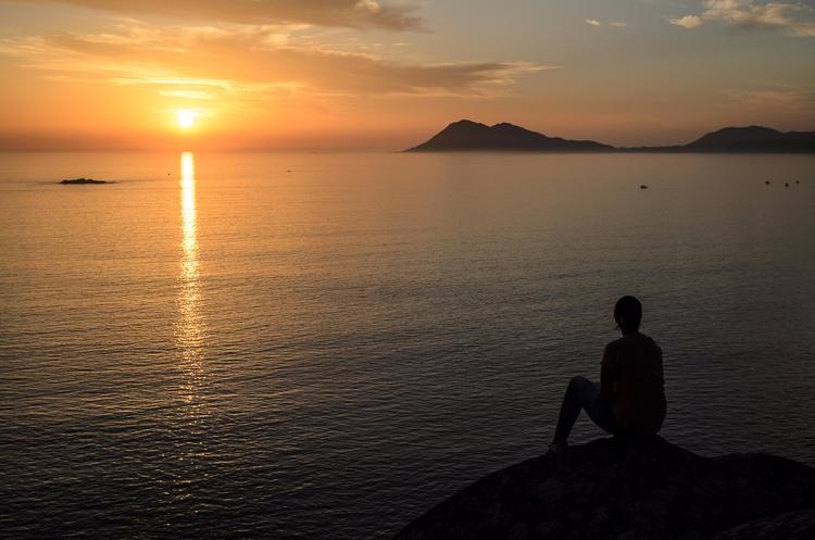 Tranquility - tranquility, sunset - santi_dieste | ello