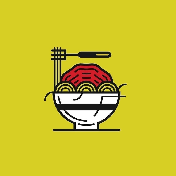 spaghetti, icon, foodporn, food - em_sey | ello