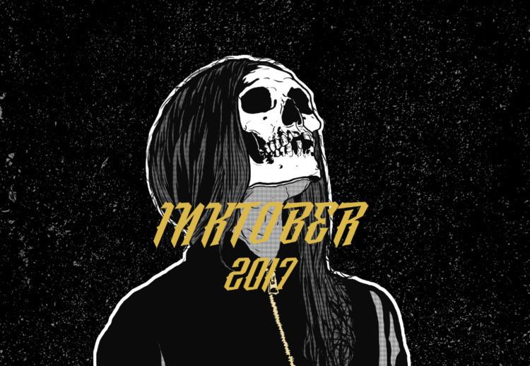 Inktober 2017 - coming - illustration - justblack | ello