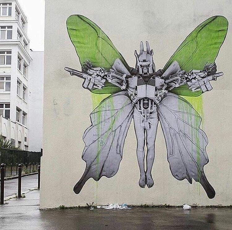 Repost Artist:Ludo - Paris, artoftheday - bitfactory | ello