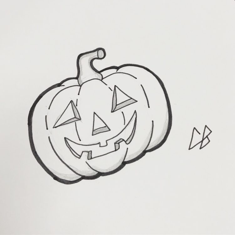 Quick sketch season - pumpkin, jackolantern - cliff-c-black | ello