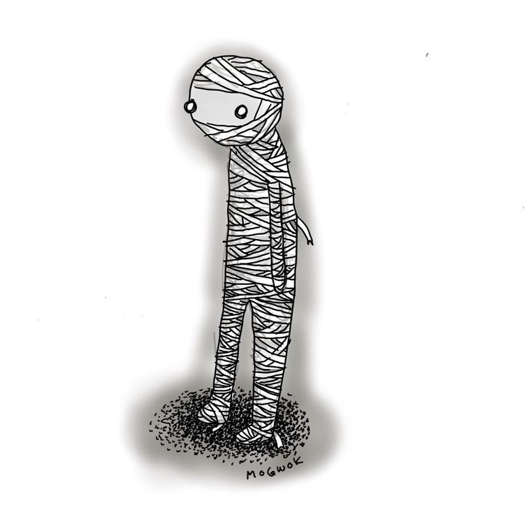 Inktober 14 - mummy, inktober, inktober2017 - mogwok | ello