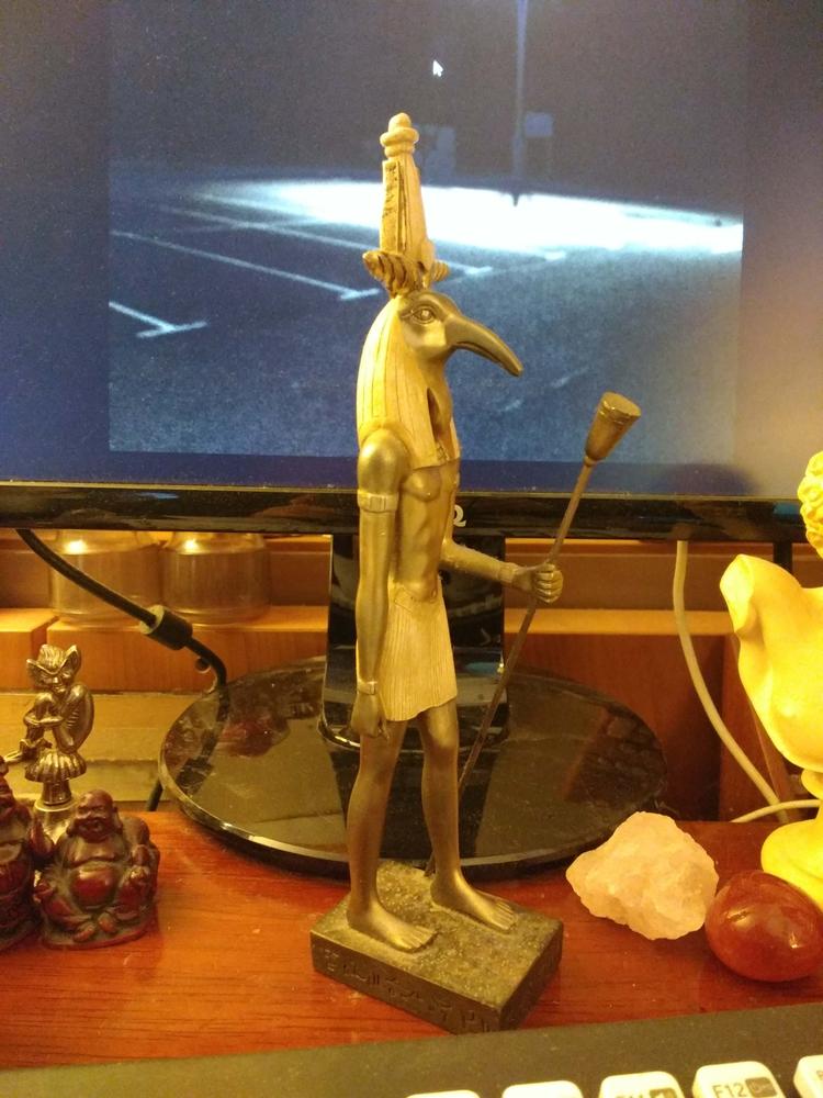 TONGUE RA*** statue Thoth front - johnhopper | ello