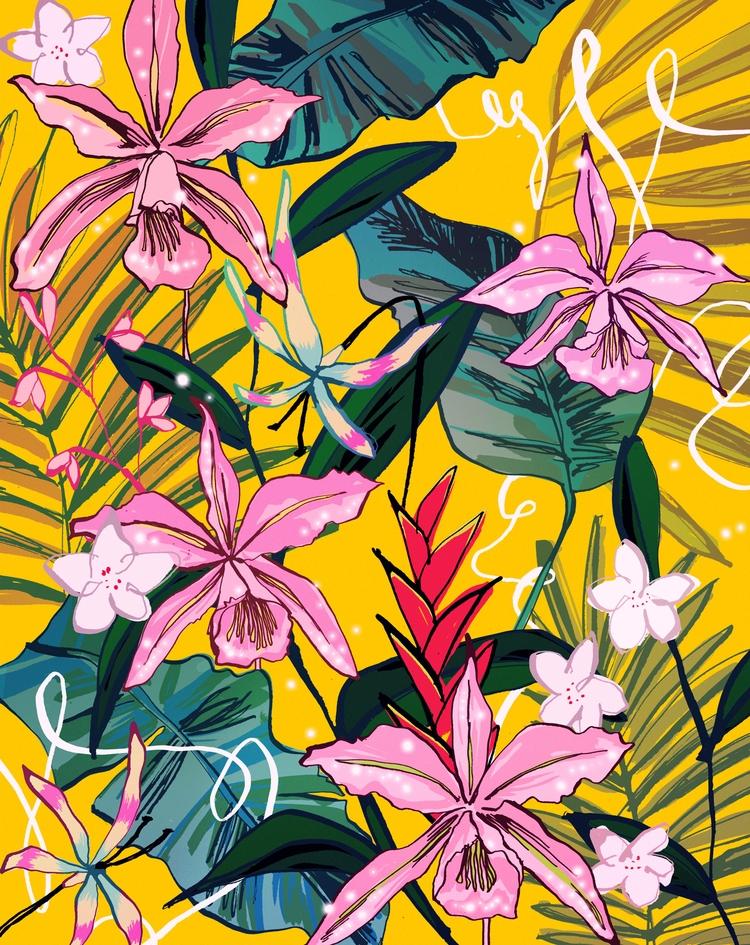 Tropical, Pattern, Illustration - eunjeongyoo | ello
