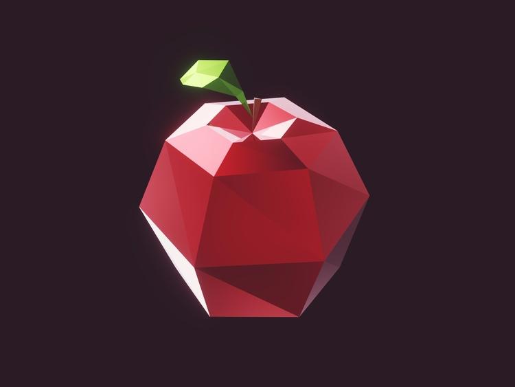 apple - 3d, lowpoly, blender, unity - romanpapush | ello