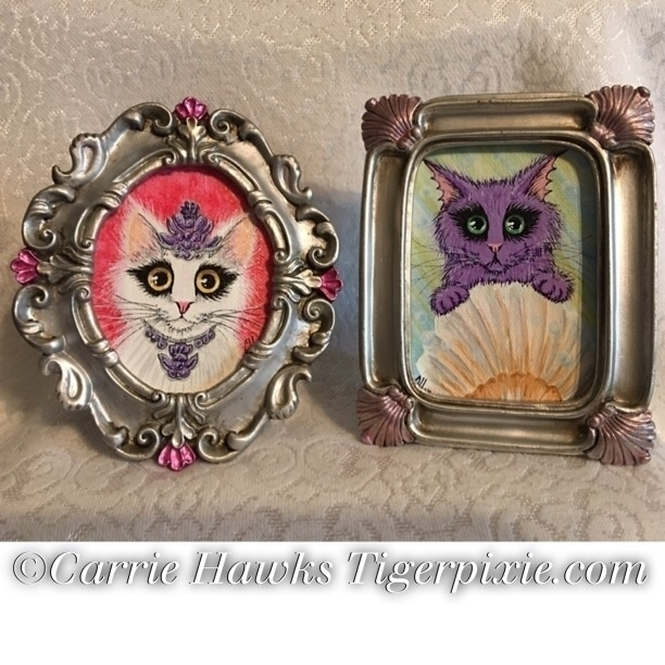 Original Mini Paintings, Tiny P - tigerpixie | ello