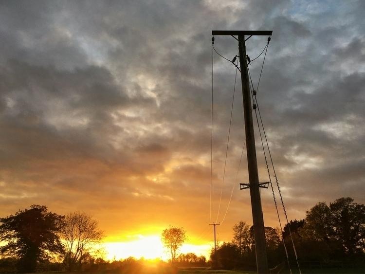Telegraph poles sunset - sky, drama - davidhawkinsweeks | ello