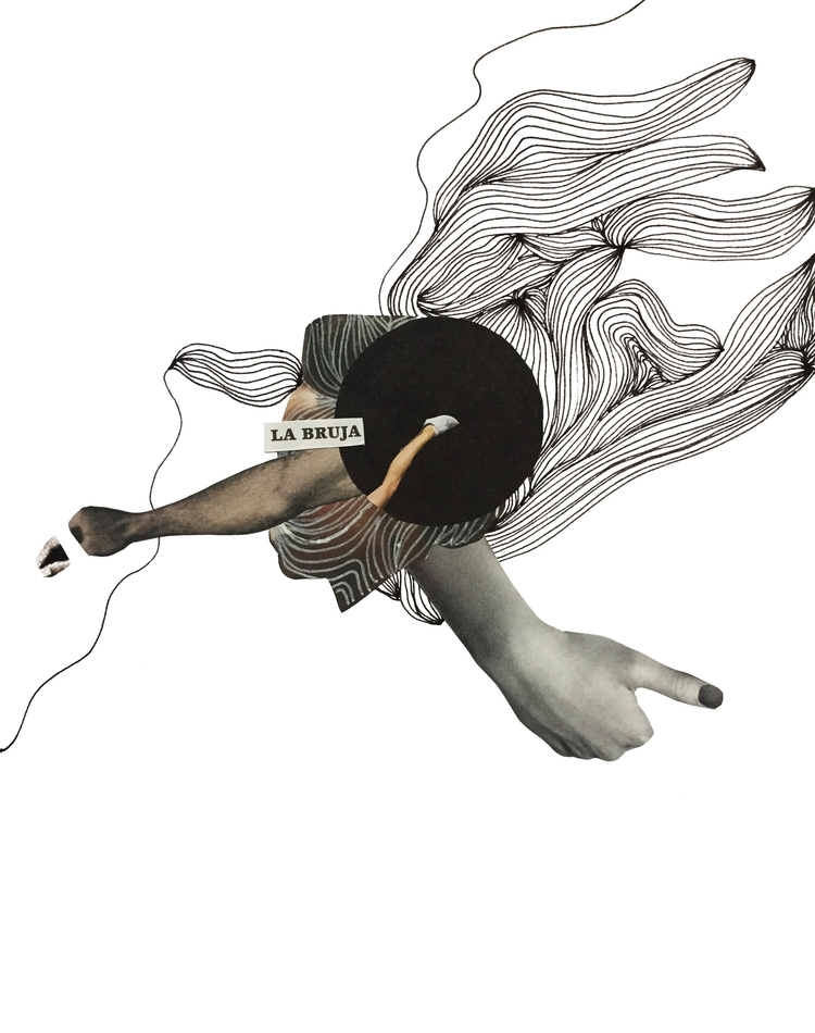 LA BRUJA - collage, collageart, artwork - marianagv | ello