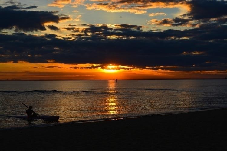 sun setting Brighton beach Melb - matthewhayter   ello