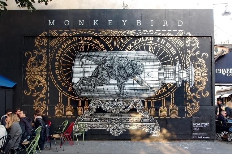 Artist: MonkeyBird LE Location - streetartunitedstates   ello