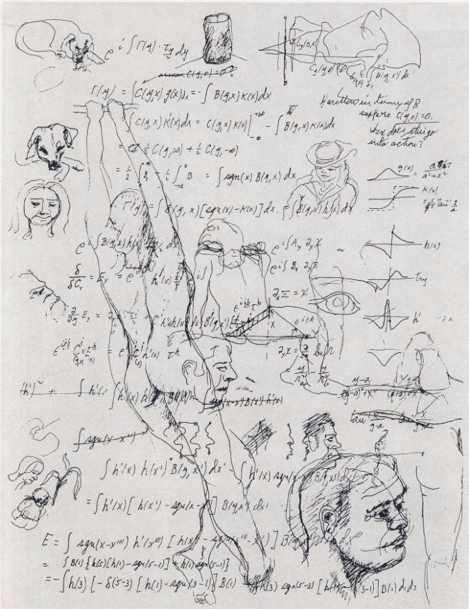 Richard Feynman: Equations Sket - arxvis | ello