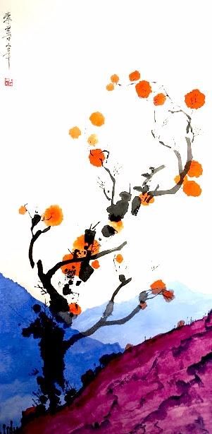fall persimmon tree - eugenesunjae | ello