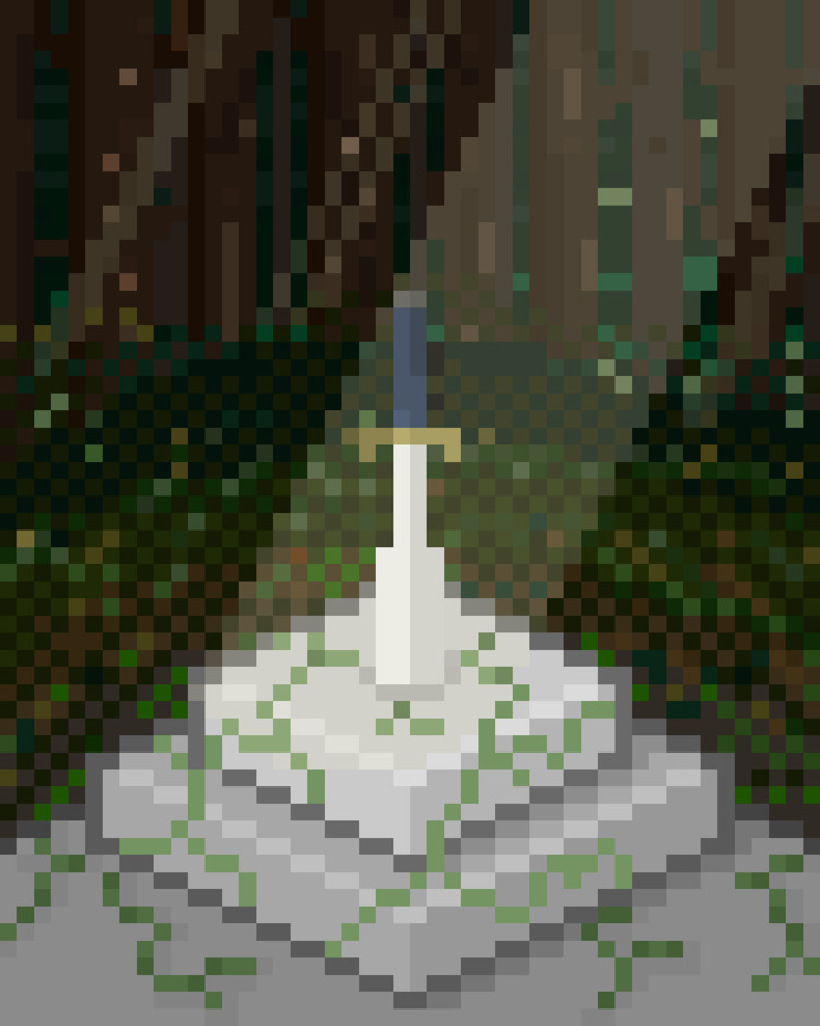 brave man sword - pixelart, illustration - toishitech | ello