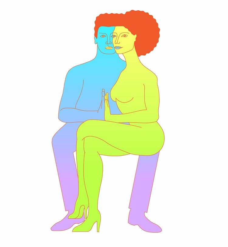illustration, art, digital, couple - vanniapalacio | ello