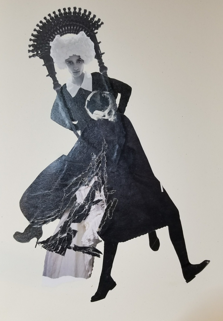 inks - collage, collageart, penandink - curtispatrickarnold | ello