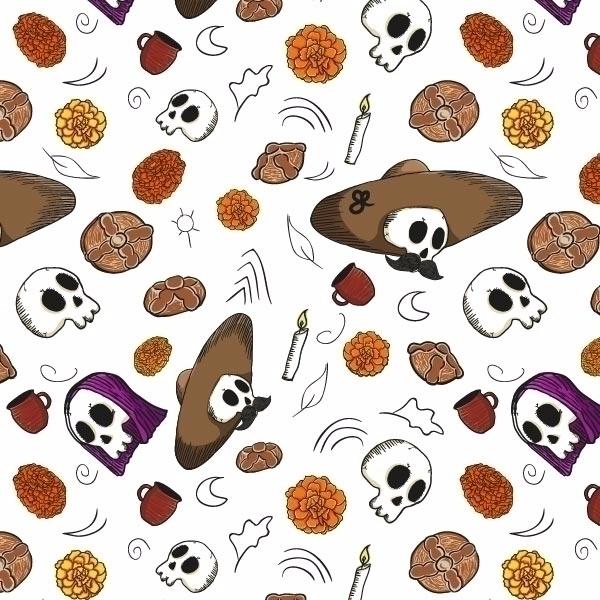 Día de Muertos - Auka, Afeguá, Illustration - kumavilla | ello