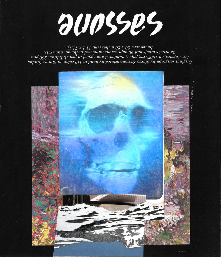 skull sassone - holographic, collage - terriffico | ello