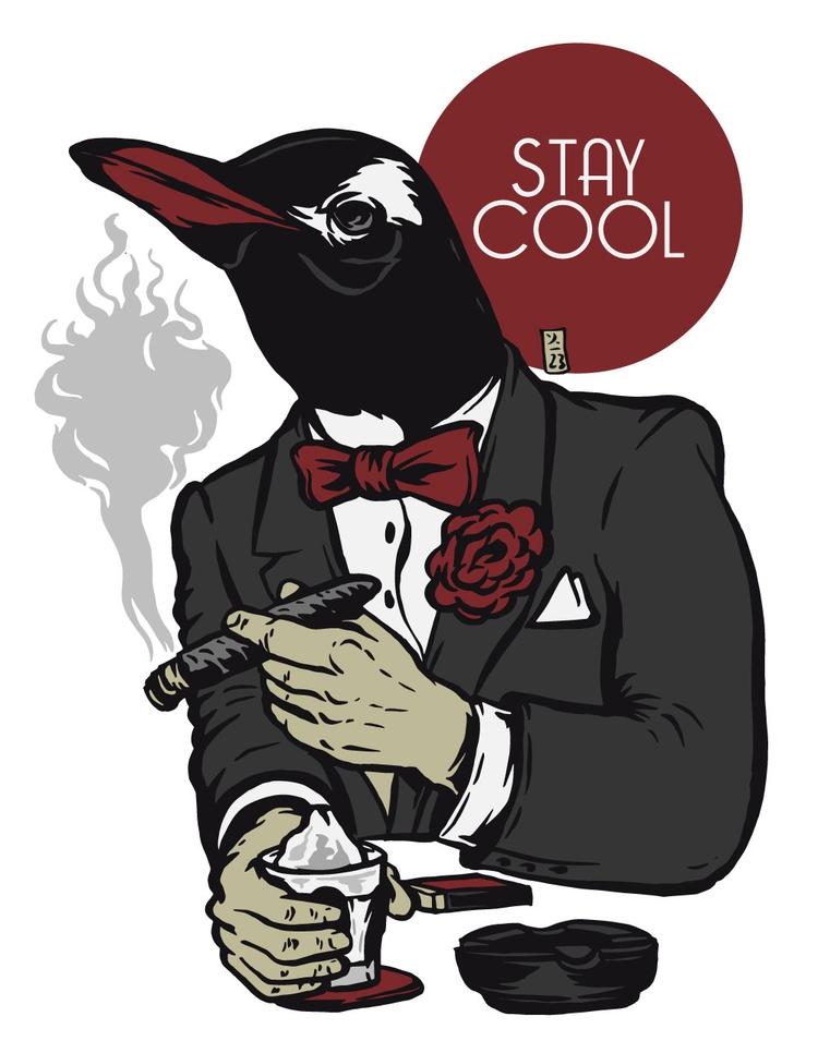 Stay Cool - illustration - thomcat23   ello