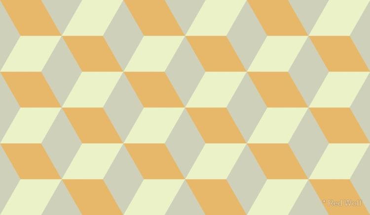 Geometric Pattern: 3D Cube: Tan - red_wolf | ello