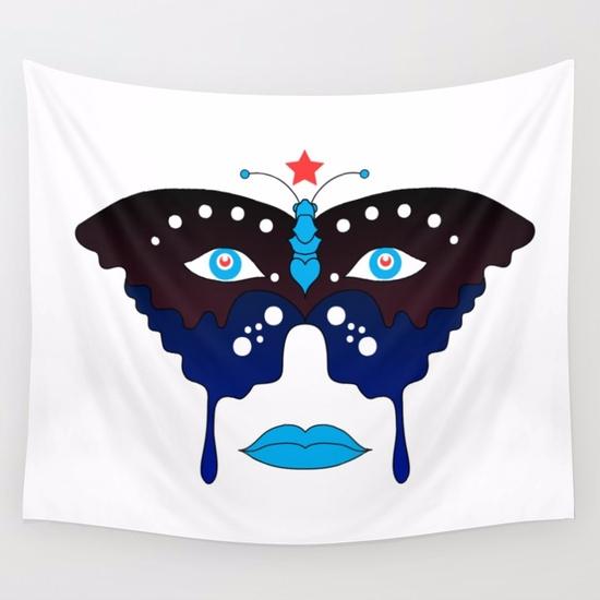 'Persona' Wall Tapestry, sale b - vanniapalacio | ello
