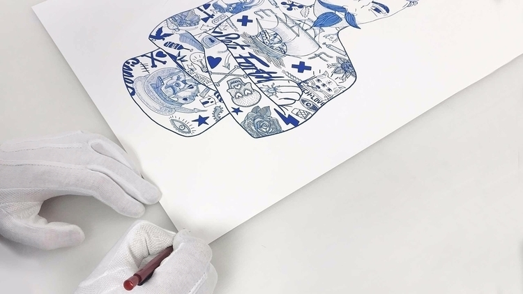 Series prints: Tat-Man / Tat-Gi - madebyfolk | ello