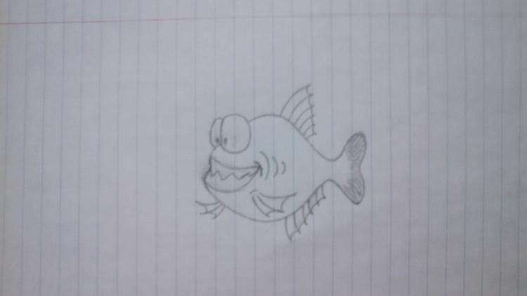 Piranha (Alternate Version - drawing - kut-n-paste | ello