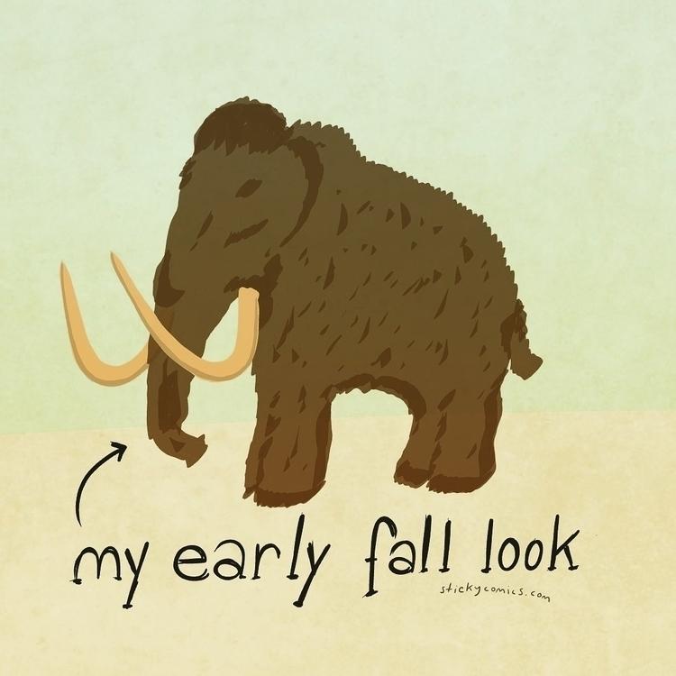 Wooly Mammoth Time - inktober, inktoberrebel - xiann | ello